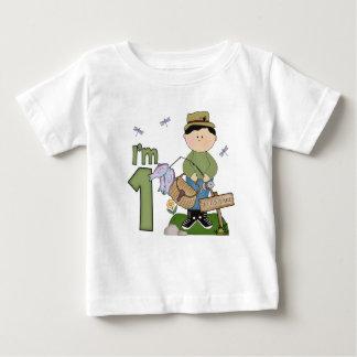 Camiseta Para Bebê Primeiro aniversario de Lil Fishingman
