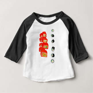 Camiseta Para Bebê Sushi Watercolor3 ajustado