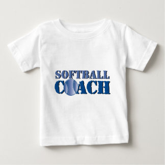 Camiseta Para Bebê Treinador do softball