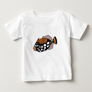 Camiseta Para Bebê Triggerfish do palhaço