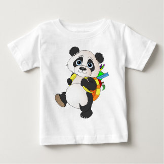 Camiseta Para Bebê Urso de panda com trouxa