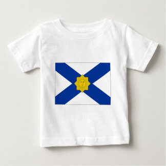 Camiseta Para Bebê Uruguai Jack naval