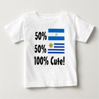 Camiseta Para Bebê Uruguayan 100% do Nicaraguan 50% de 50% bonito
