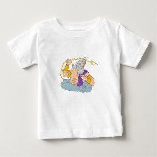 Camiseta Para Bebê Zeus que Wielding o desenho do relâmpago do raio