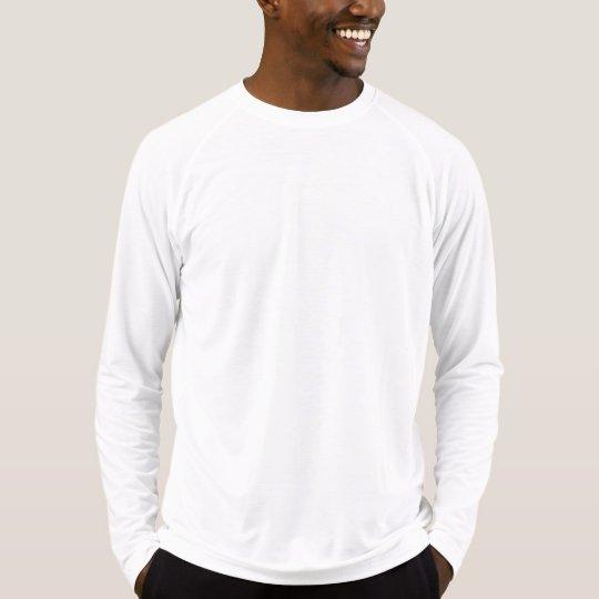 Camiseta masculina justa de mangas compridas Sport-Tek Competitor, Branco