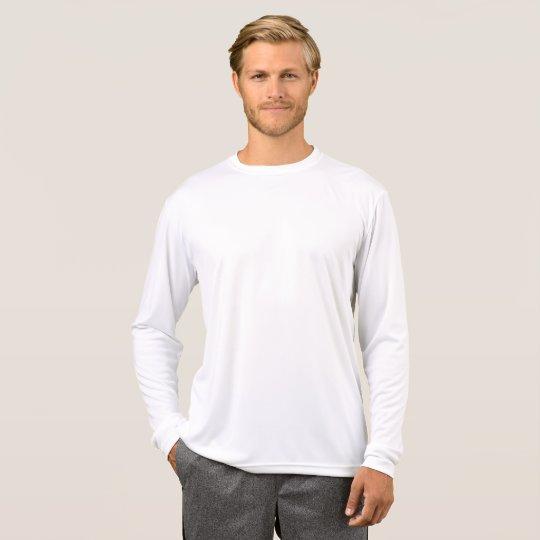 Camiseta masculina de mangas compridas Sport-Tek Competitor, Branco