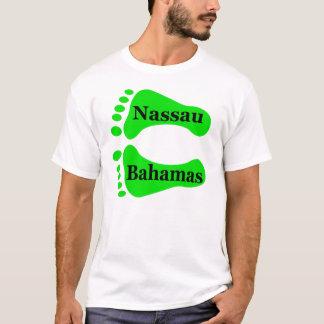 Camiseta Pés desencapados de Nassau Bahamas