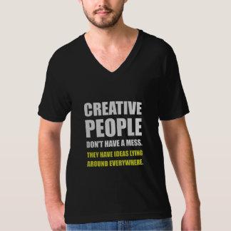 Camiseta Pessoas criativas das ideias da confusão