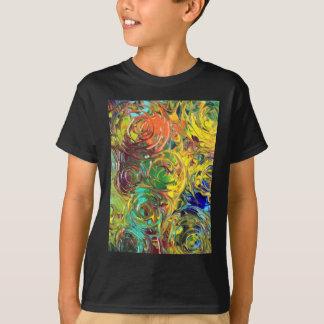 Camiseta Pintura abstrata das espirais do arco-íris