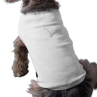 Camiseta Pintura de Basenji sua própria roupa do animal de