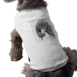 Camiseta Pintura de Parti da caniche padrão - arte original