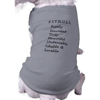 """Camiseta Pitbull """"Benz"""" das cercas para a CAMISOLA do CÃO d"""