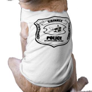 Camiseta Polícia da dobra