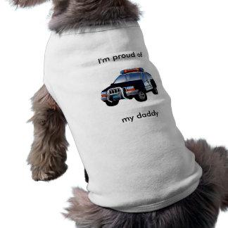 """Camiseta Polícia """"eu sou orgulhoso de meu (pai)"""" t-shirt do"""