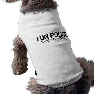 Camiseta Polícia K-9 do divertimento da camisa do animal de