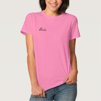 Camiseta Polo Bordada Feminina Noiva