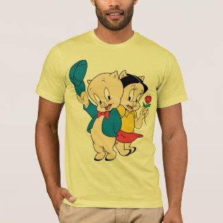 Camiseta Porco e petúnia Porky