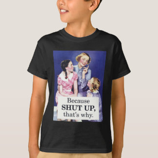 Camiseta Porque fechado acima é por isso
