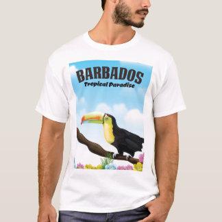 Camiseta Poster de viagens tropical do paraíso de Barbados