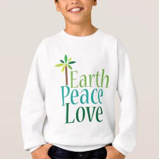 Camiseta Presentes do Dia da Terra do amor da paz da terra