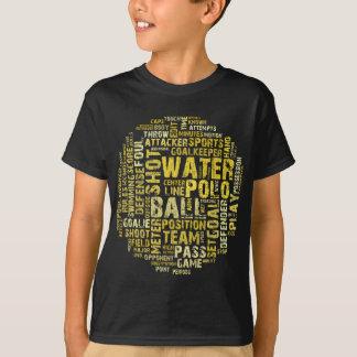Camiseta Produtos da nuvem da palavra do pólo aquático