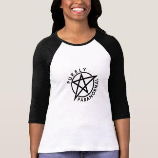 Camiseta Raglan puramente Paranormal T cabido