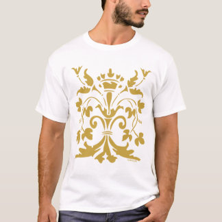 Camiseta Rainha original da flor de lis (ouro antigo)