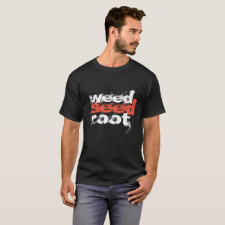 Camiseta raiz da semente da erva daninha