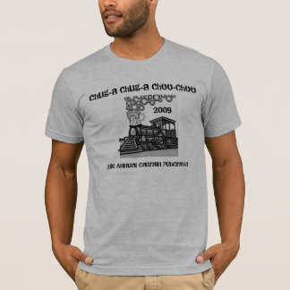 Camiseta Rastejamento de bar de Choo-Choo do chug-um do