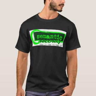 Camiseta Registros semânticos