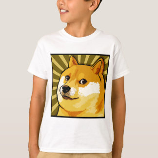 Camiseta Retrato de auto quadrado do Doge de Meme do Doge