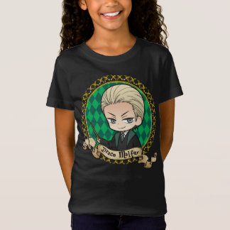 Camiseta Retrato de Malfoy do Draco do Anime