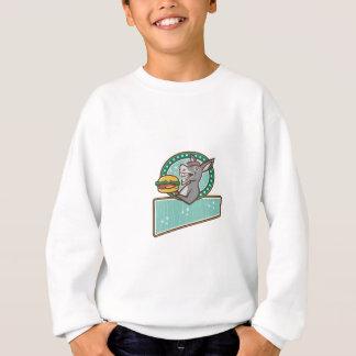 Camiseta Retro oval do retângulo do hamburguer do saque da