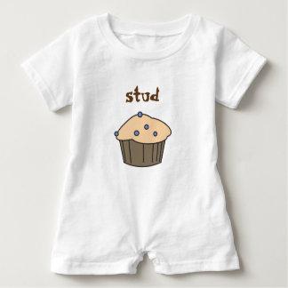 Camiseta Romper bonito do bebé do muffin do parafuso