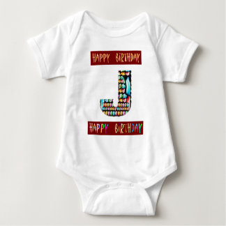 Camiseta Roteiro de HappyBirthday - alfabeto ALFA
