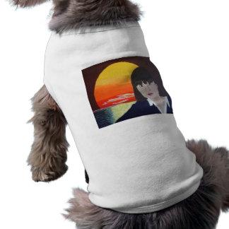 Camiseta Roupa do animal de estimação da pintura