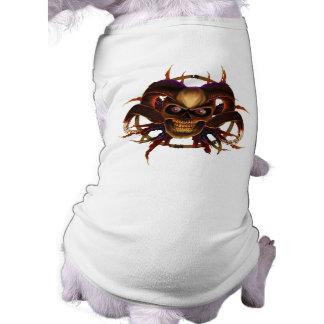 Camiseta Roupa do ANIMAL DE ESTIMAÇÃO do crânio dos cantos