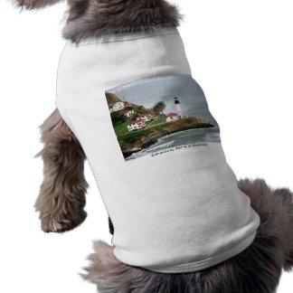 Camiseta Roupa do animal de estimação/farol do Point Loma