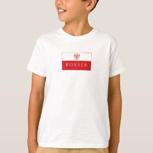 9c7e76a398 Camiseta Roupa polonesa da bandeira de Bokser Eagle