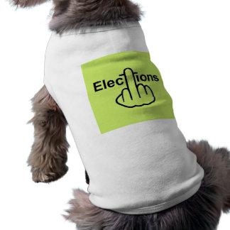 Camiseta Sacudir das eleições da roupa do cão