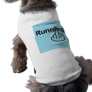 Camiseta Sacudir do corredor da roupa do cão