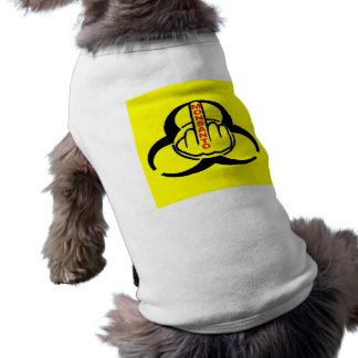 Camiseta Sacudir do perigo de Monsanto da roupa do cão bio