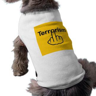 Camiseta Sacudir do terrorismo da roupa do cão