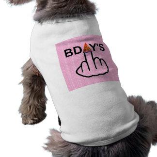 Camiseta Sacudir dos aniversários da roupa do cão