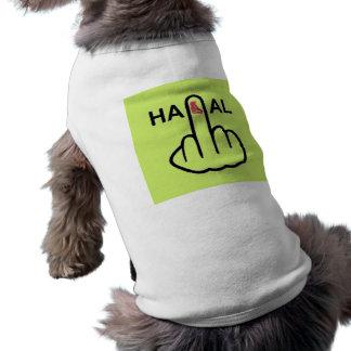 Camiseta Sacudir Halal da roupa do cão