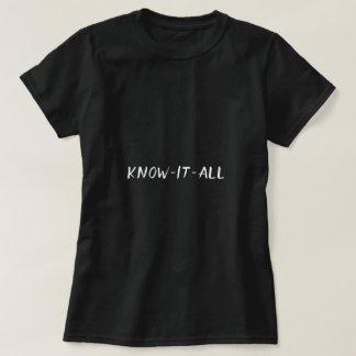 Camiseta Saiba-o toda a tipografia engraçada