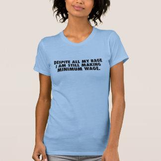 Camiseta Salário da raiva (texto preto) customizável
