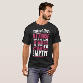 Camiseta Sem cães minha casa estaria limpa