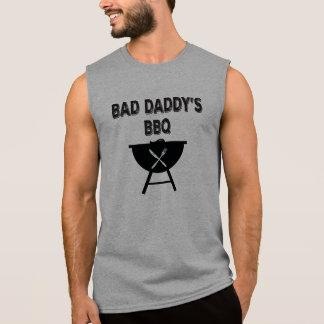 Camiseta Sem Manga CHURRASCO mau do pai. BBQ da papá