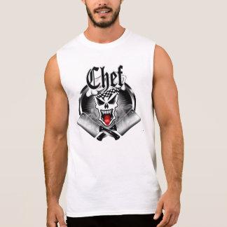 Camiseta Sem Manga Crânio 2,1 do cozinheiro chefe